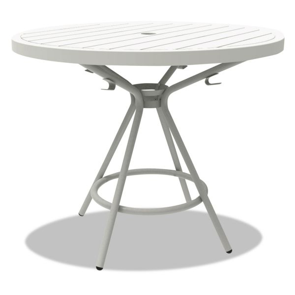 "Safco CoGo Tables, Steel, Round, 36"" Diameter x 29 1/2"" High, White"