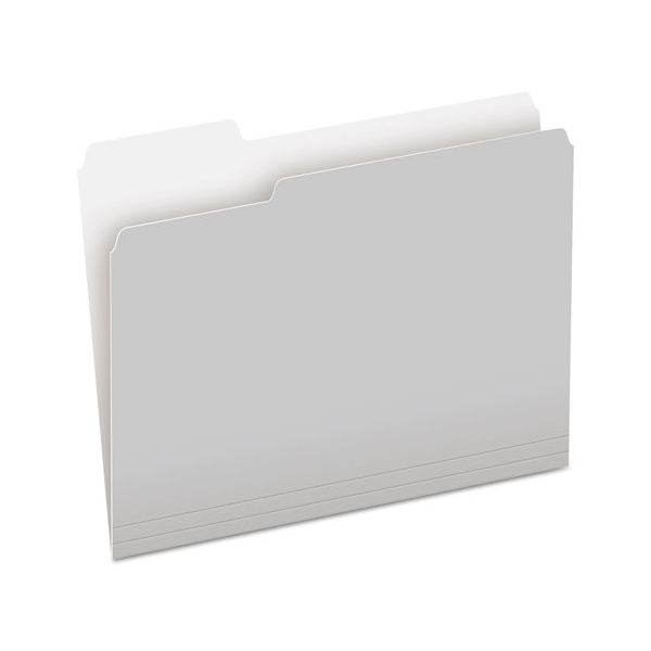 Pendaflex Colored File Folders, 1/3 Cut Top Tab, Letter, Gray/Light Gray, 100/Box