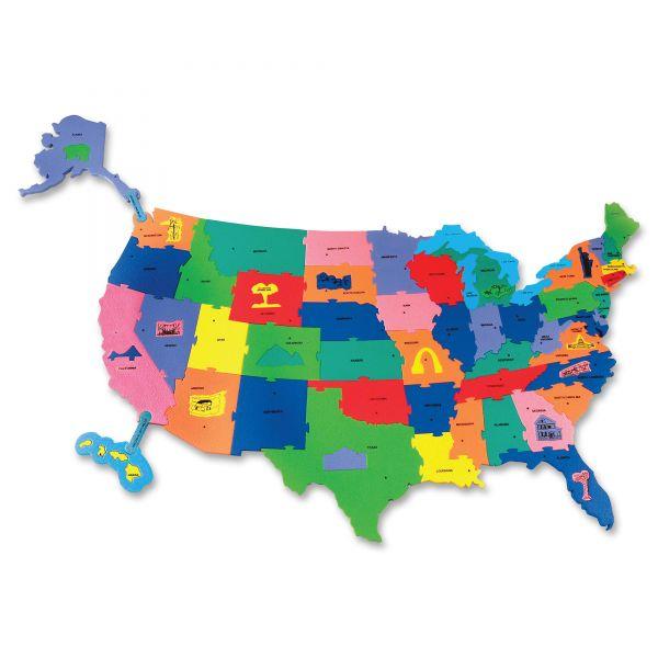 WonderFoam Giant USA Puzzle Map