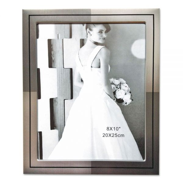 NuDell Metal Master Series Document and Photo Frame, 8 1/2 x 11, Pewter/Black Frame