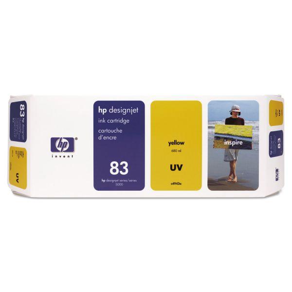HP 83 UV Yellow Ink Cartridge (C4943A)