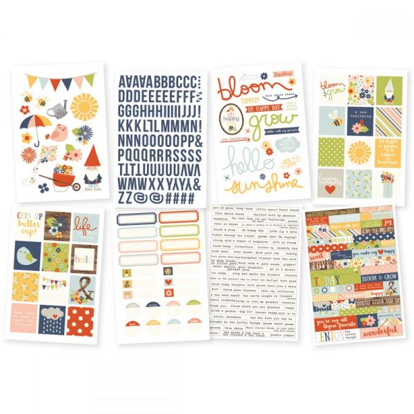 "Bloom & Grow Stickers 4""X6"" Sheets 8/Pkg"