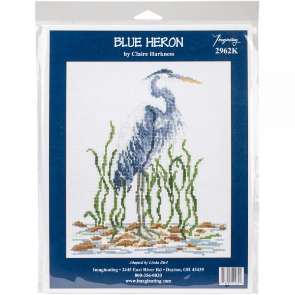 Blue Heron Counted Cross Stitch Kit