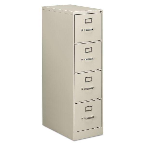 HON 510 Series Four-Drawer, Full-Suspension File, Letter, 52h x25d, Light Gray