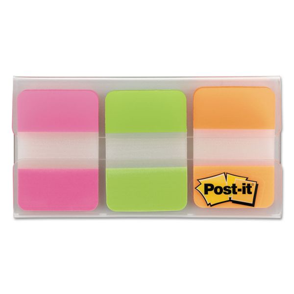 Post-it Tabs File Tabs, 1 x 1 1/2, Assorted Brights, 66/Pack
