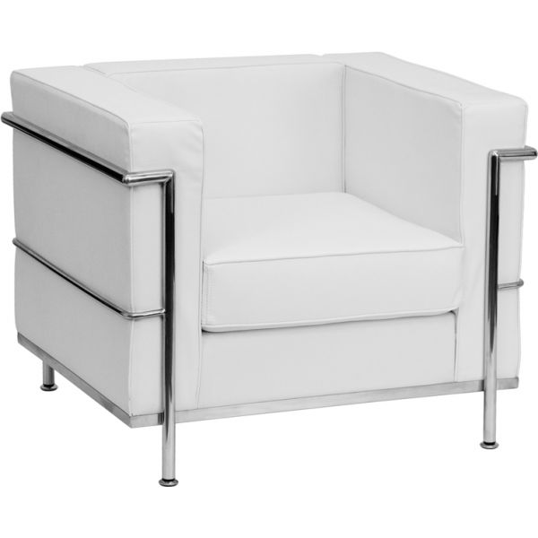 Flash Furniture Contemporary White Leather Chair