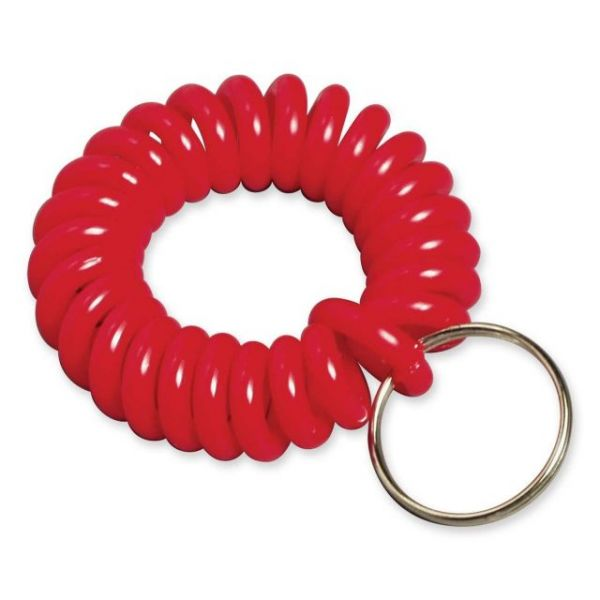Baumgartens Wrist Coil Key Chain, Assorted Colors