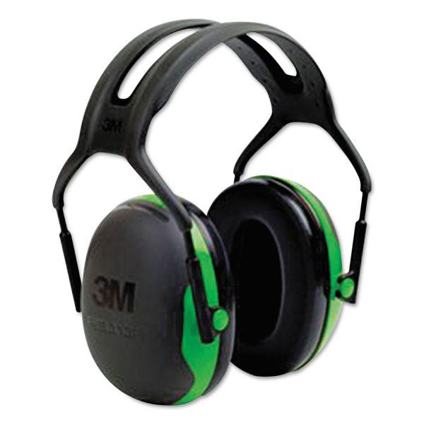 3M Peltor X1 Earmuffs, 27 dB NRR, Green, 10/Carton