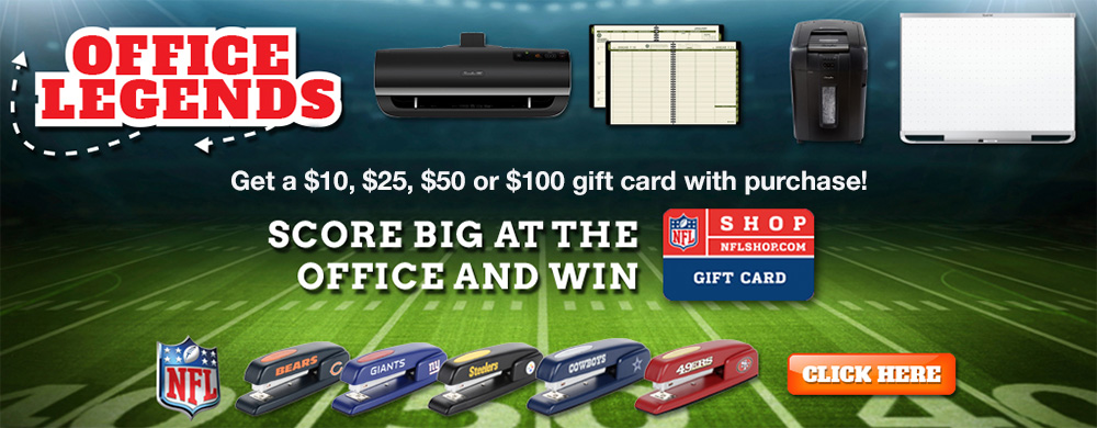 Office Legends - NFL Giftcard with purchase - Shop Now