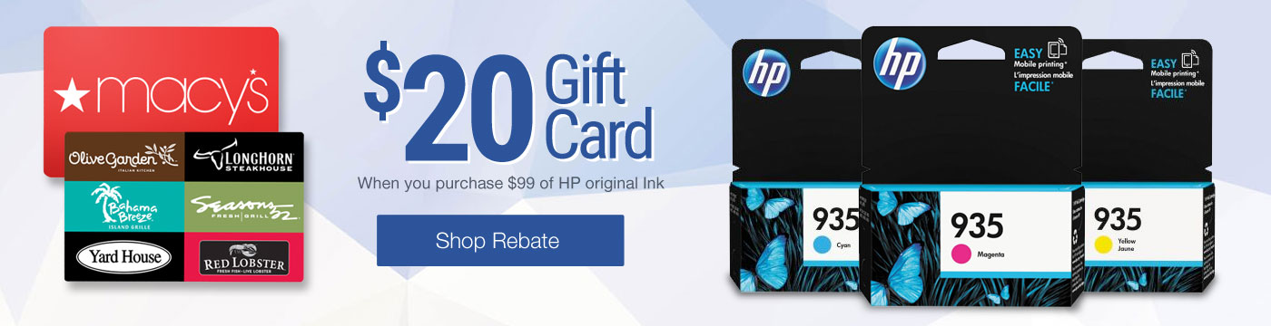 $20 Gift Card with HP Purchase.