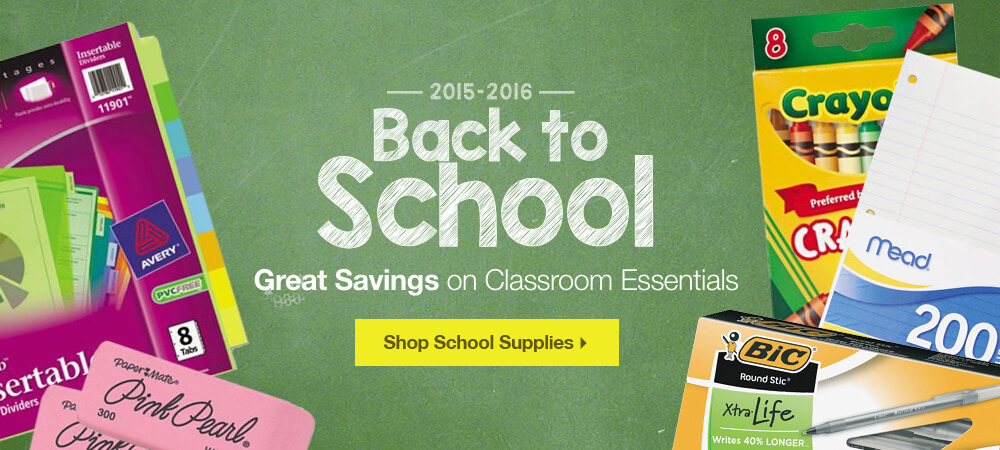 Back to School 2015-2016 Classroom Essentials