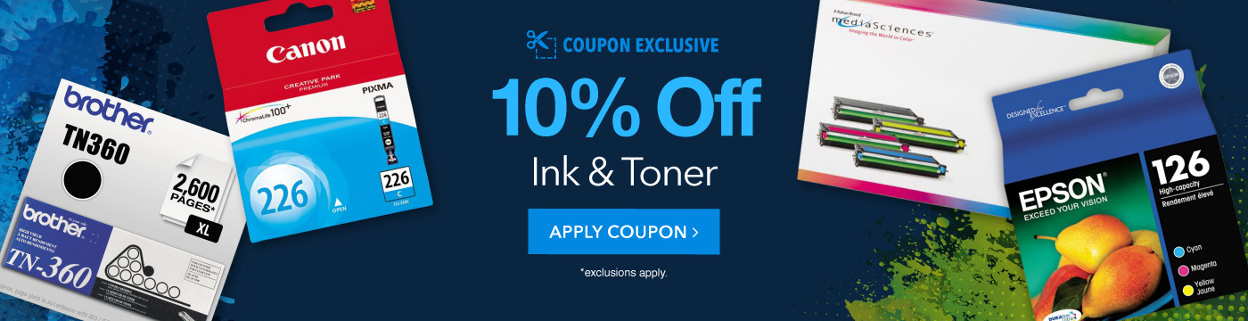 10% Ink and Toner Coupon. Apply Now