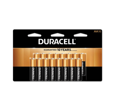 Free 16 Pack AA Duracell Batteries with a $100+ order