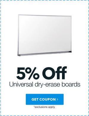 5% Universal dry-erase boards