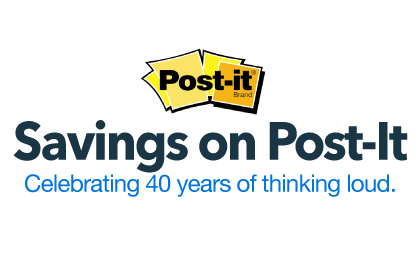 Post-It: Celebrating 40 Years of Thinking Loud