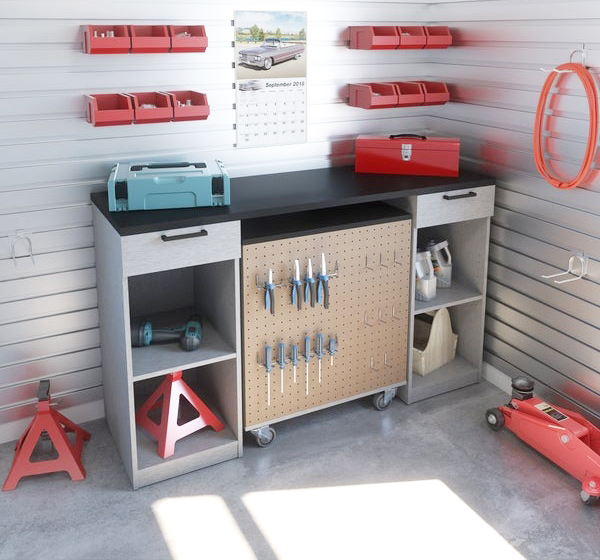 tools garage workbench