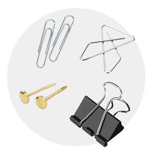 Clips, Clamps, Fasteners, Binders & Covers