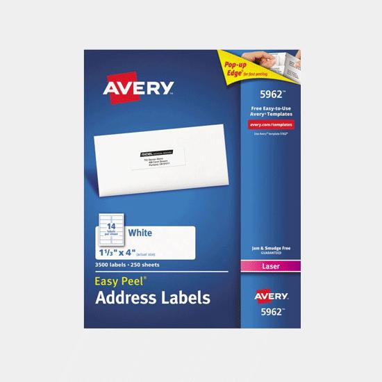 Avery Easy Peel Labels