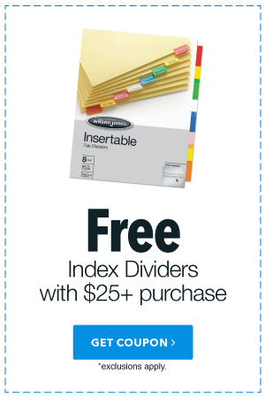 Free Index Dividers